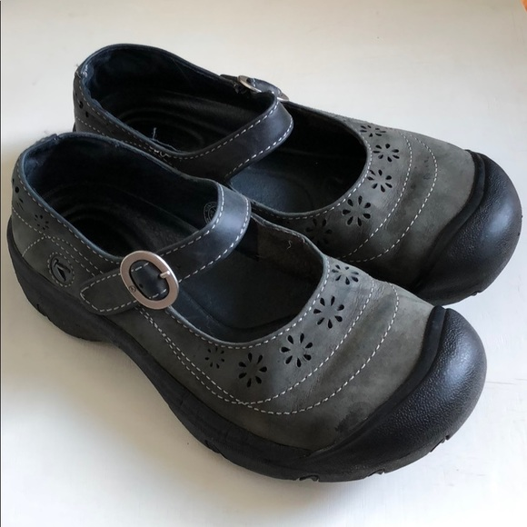 Women's Shoes Keen Womens Calistoga Waterproof Leather Mary Jane With Buckle Shoes 6.5